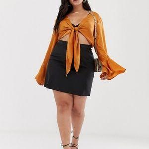 ASOS Curve Tailored A-Line Mini Skirt